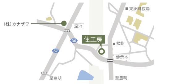 東郷町 夏祭り 「住工房フェスティバル2016」駐車場地図