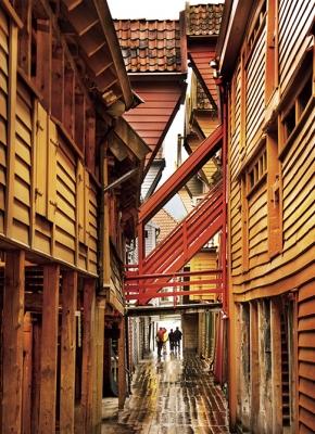 建物だけでなく路地さえも木造