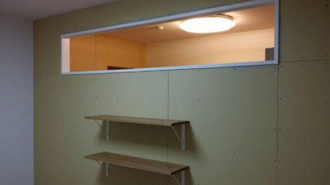 子供部屋の改修工事 室内窓