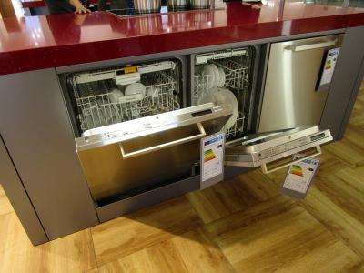 Miele(ミーレ)の食洗機。日本の食洗機には少ない前開きタイプなのがポイントです。
