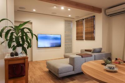 ホームシアター収納後のテレビ設置例