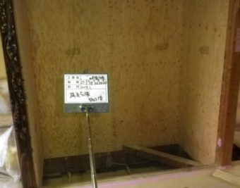 日進市耐震 構造用合板取付後