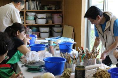 陶芸教室体験の様子