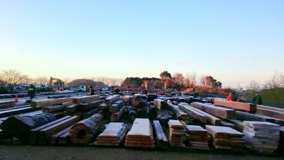 各務原の木材の競市 広大な会場