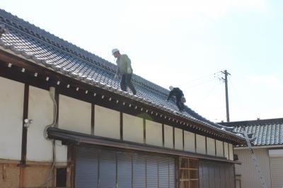 東郷町の神社 屋根工事2