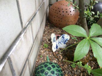 陶器の蝶々