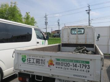 住工房のトラックに描かれるキャラクター「じゅうくん」
