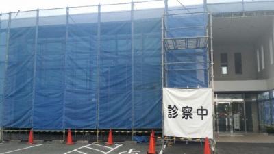 外壁塗装のための足場組立・診察状況の表示 東郷町