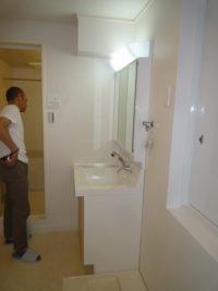 リノベ済の千種区のマンション 洗面室