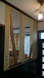 階段側:飾り窓取付け開口部