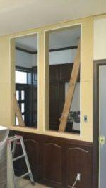 廊下側:飾り窓取付け開口部