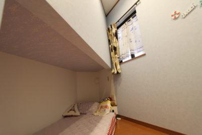 下段は天井部分に夜行性のシールで飾り付け