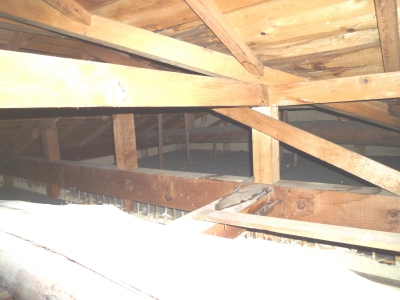 屋根の谷間個所