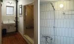 団地リノベ|白を基調にした浴室