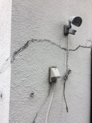 外壁:横に亀裂