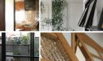 室内窓|アイアン・無垢材・チェッカーガラス