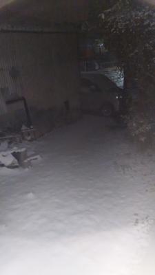少し前の積雪