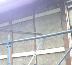 構造合板の継手受け材