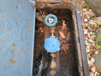 現場調査(排水契約径)