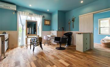 戸建リノベーション:西海岸リゾートテイストたっぷりの爽やかなお家