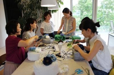 楽しい花カゴバッグ作り・イベント