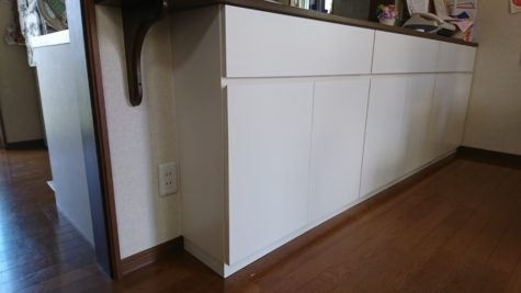 キッチンカウンター下のオーダー家具