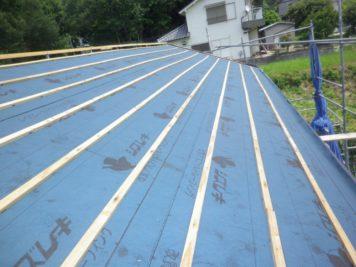 屋根下地の作り直し