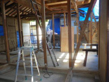 木構造部分の改修