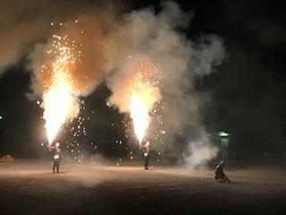 東郷町のお祭り(手筒花火)
