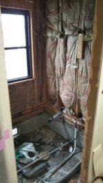 浴室改修工事中