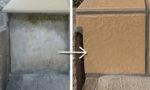 玄関ポーチのタイルの貼り直し