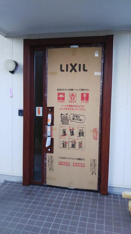 玄関ドア取替工事後