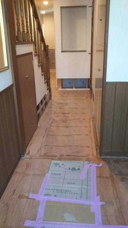 床貼り替え工事(フローリングめくり)