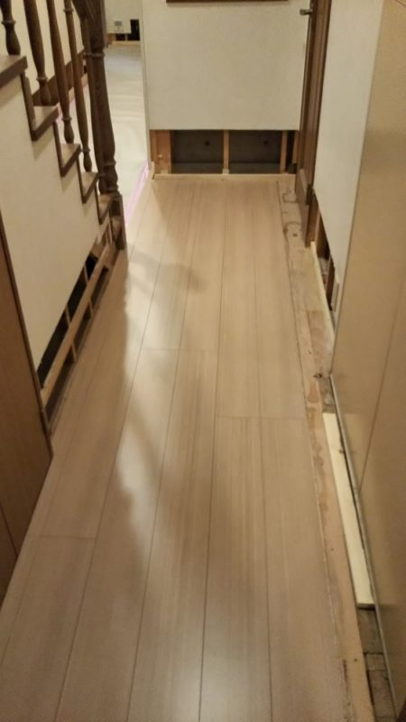 床貼り替え工事(張替え後)