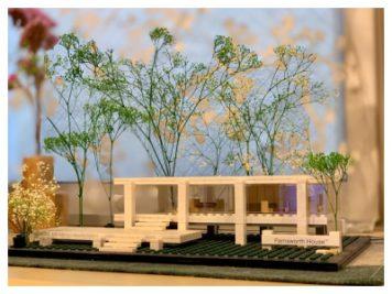 LEGOで作ったミースの「ファンズワース邸」