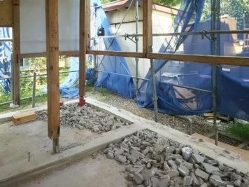 東郷町のリノベーション:壁の撤去