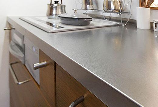 キッチンのステンレス天板