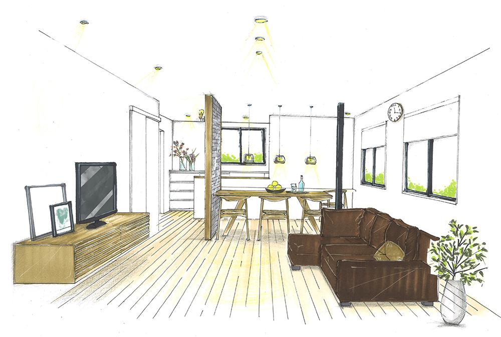 提案イメージ図:愛知県東郷町のリノベーション S様邸