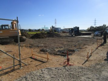 新社屋の基礎工事1