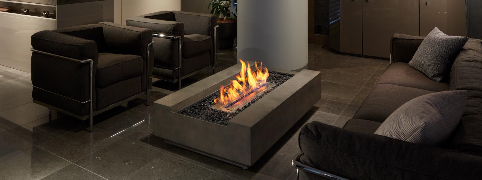 エコで安全な新しいバイオエタノール暖炉「ecosmartfire」