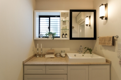 コンセプトハウスの洗面化粧台