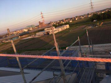 新社屋の屋根からの眺め