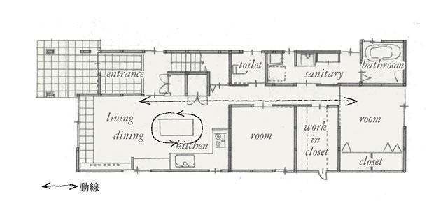 施工後 平面図 1階