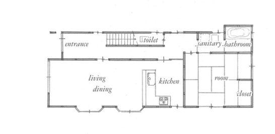 施工前 平面図 1階