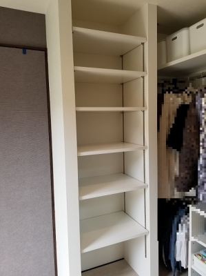 オーダー収納:バッグや小物類の収納スペース