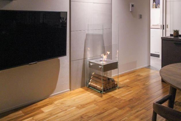 デザイン性と安全性を両立したバイオエタノール暖炉