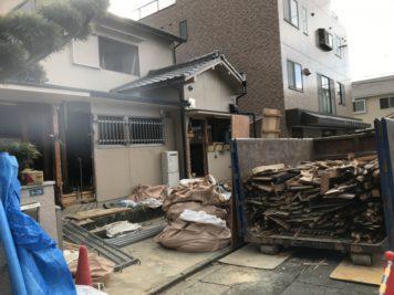 耐震リノベーション工事(名古屋市中川区)解体工事