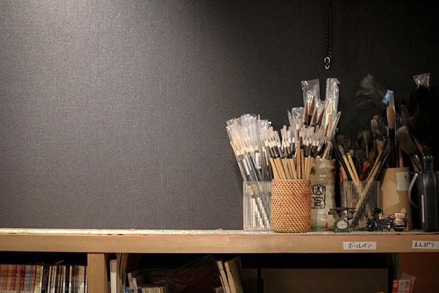 書道教室の筆