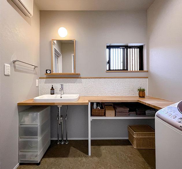 住工房オリジナルの洗面台
