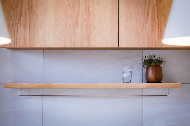 ディティールを大切にしたキッチン回りのオーダー家具